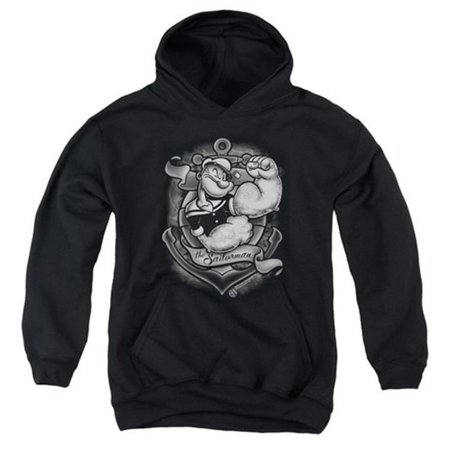 a6d2ffd8f Popeye-Anchors Away Youth Pull-Over Hoodie, Black - XL - image 1 ...
