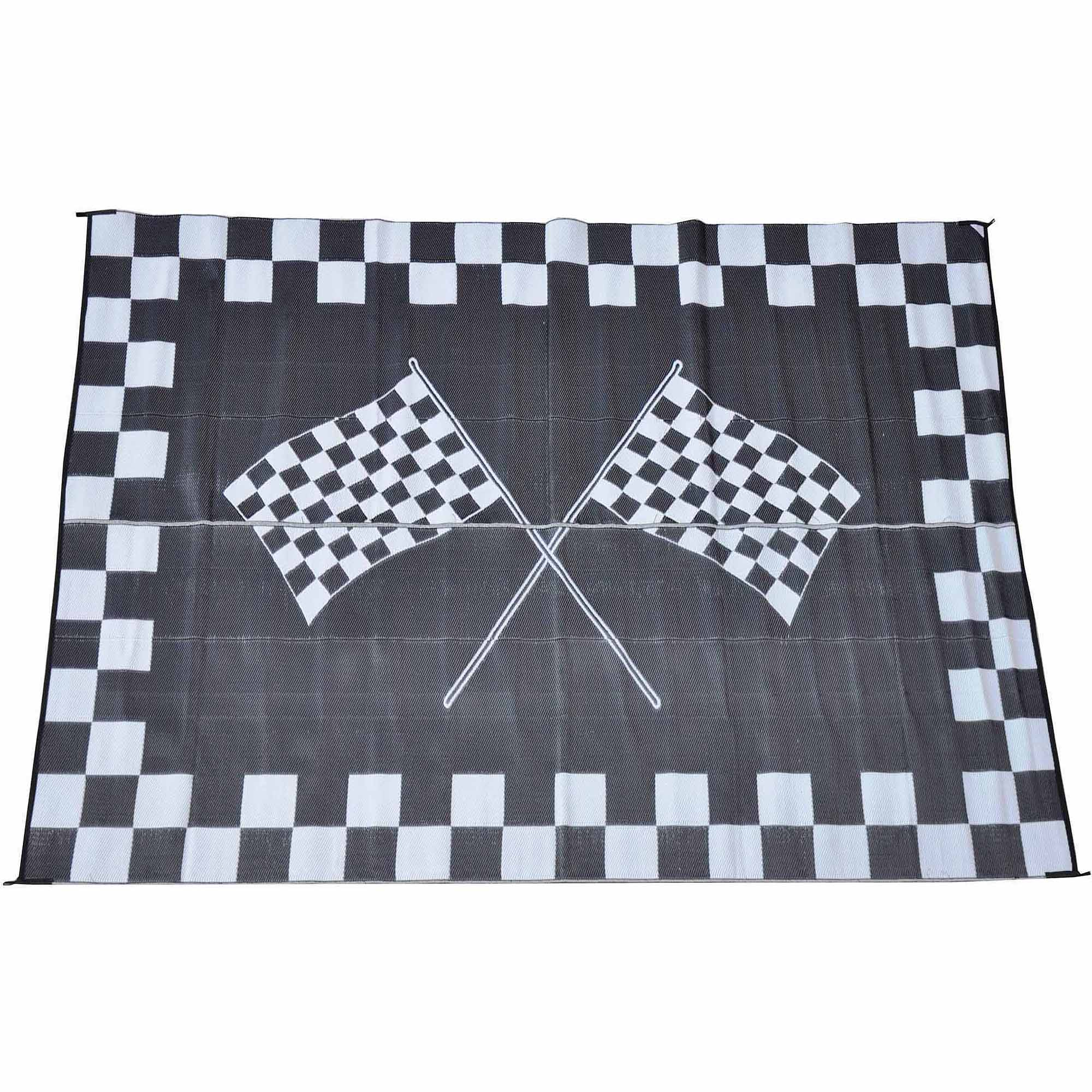 Patio Mats Racing Flag Patio Mat