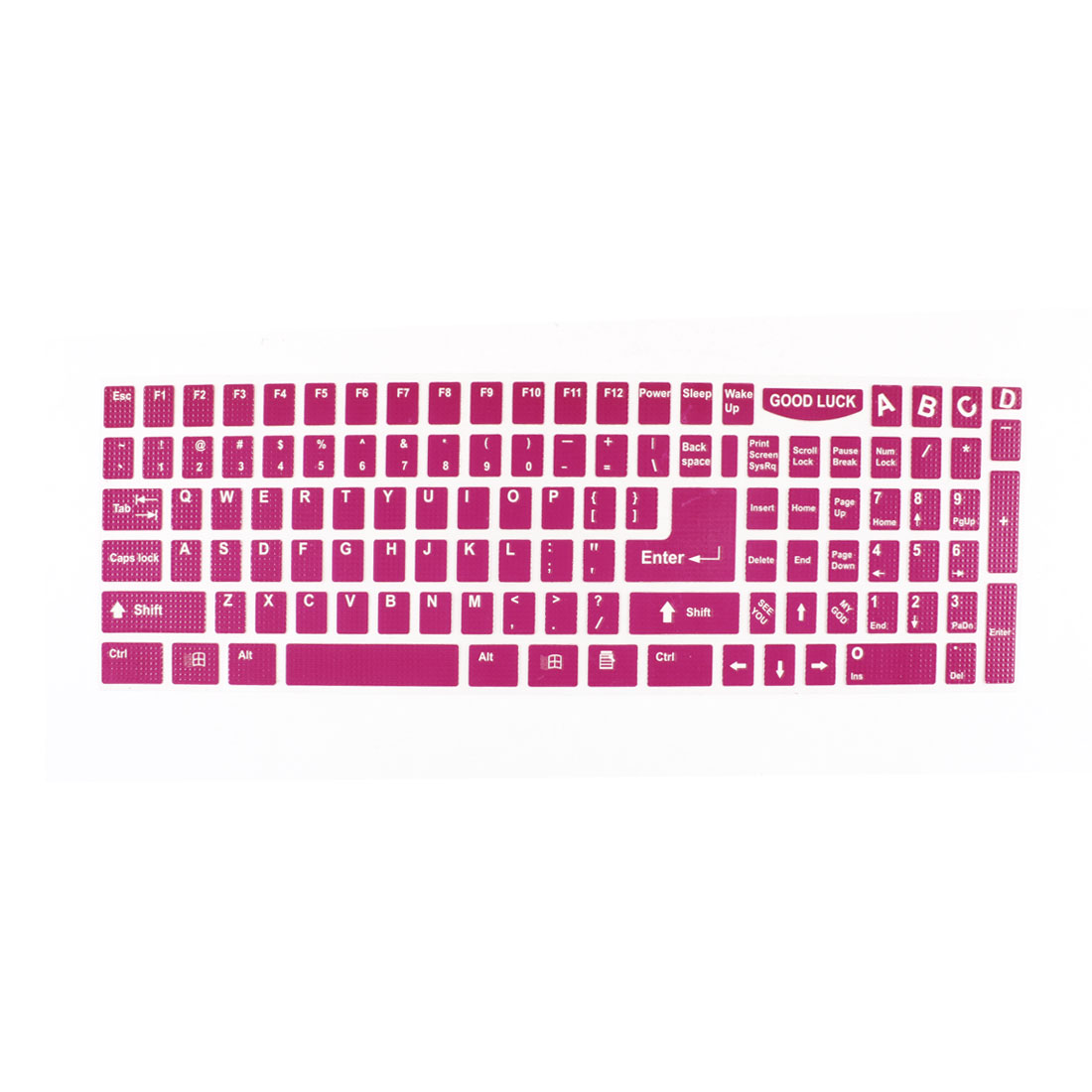 Notebook Laptop Keyboard Sticker Decal Decor Fuchsia
