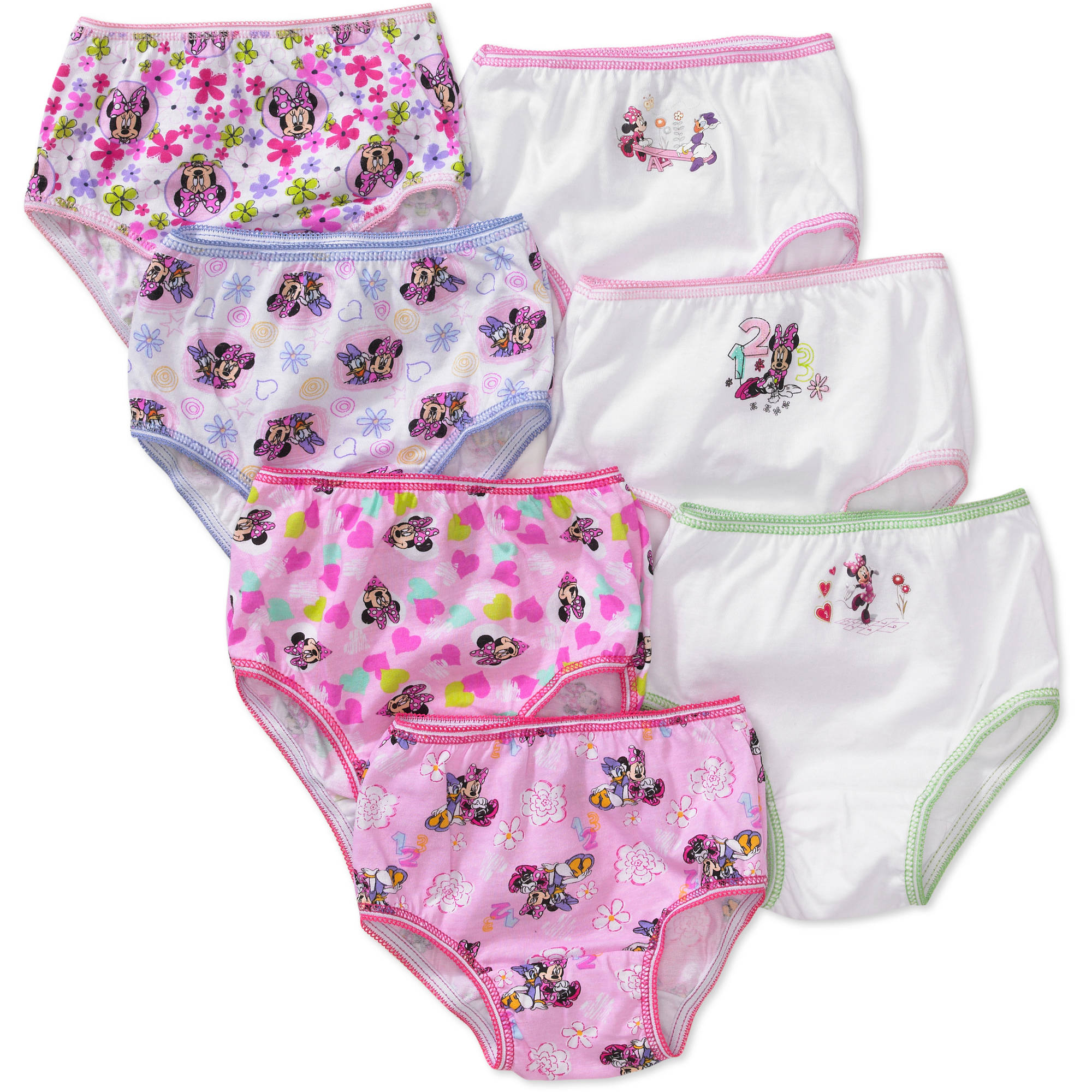 Disney Toddler Girls' Minnie Mouse Underwear, 7-Pack