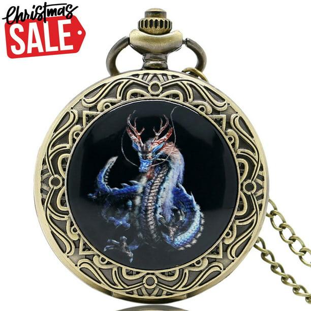 Antique Full Hunter Dragon Pocket Watch