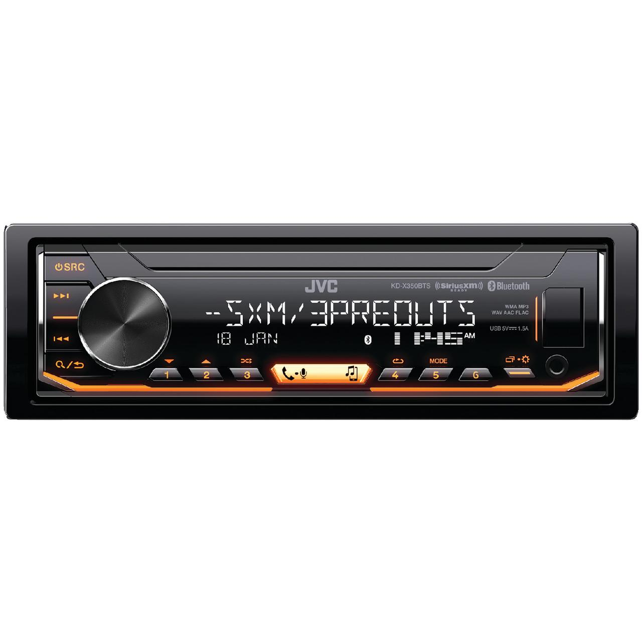 JVC Mobile KD-X350BTS KD-X350BTS Single-DIN In-Dash AM/FM Digital Media Receiver with Bluetooth & SiriusXM Ready