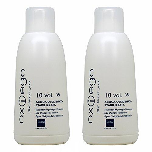 "Alter Ego Oxiego 10 Vol. 3% Stabilized Hydrogen Peroxide 33.8oz / 1000mL ""Pack of 2"""