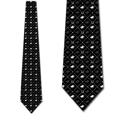 Horse Racing Ties Equestrian Mens Necktie by Three Rooker