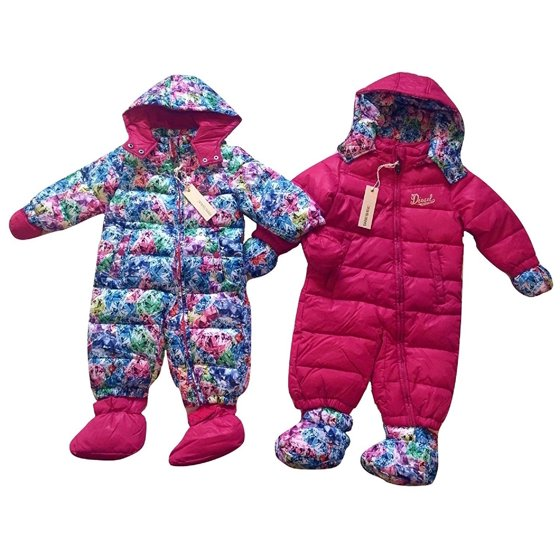 4a465fc8e369 Diesel - Diesel Baby Girls Insulated Hooded Pram Snowsuit with ...
