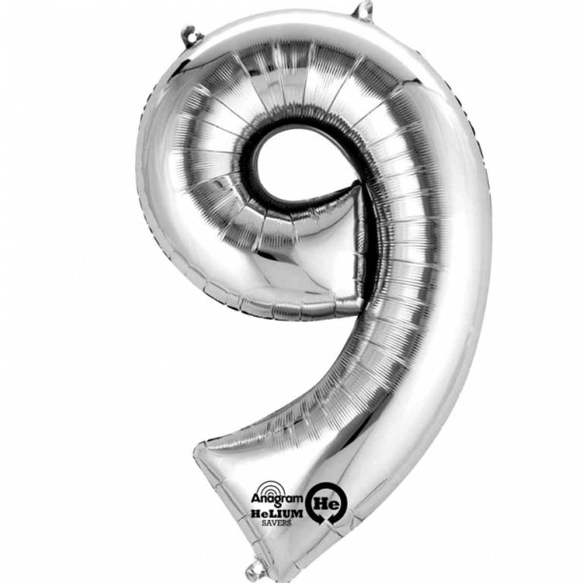 """Giant Silver Number 9 Foil Balloon 34"""""""