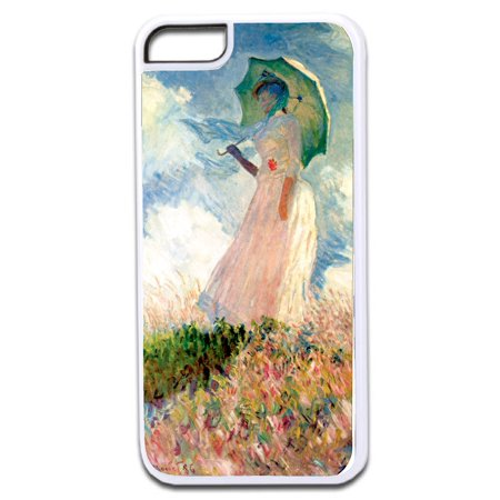 Artist Claude Monet's Woman with a Parasol Design White Rubber Case for the Apple iPhone 7 / iPhone 8 - iPhone 7 Accessories - iPhone 8 Accessories (7 Parasols)