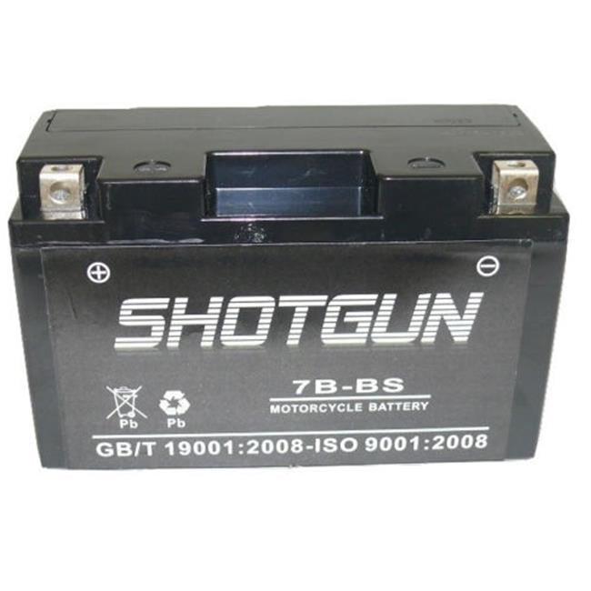 BatteryJack 7B-BS-SHOTGUN2 Shotgun UT7B - 4 Power Sport AGM Series Sealed AGM Battery