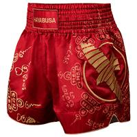 Hayabusa Falcon Muay Thai Shorts, Red Small