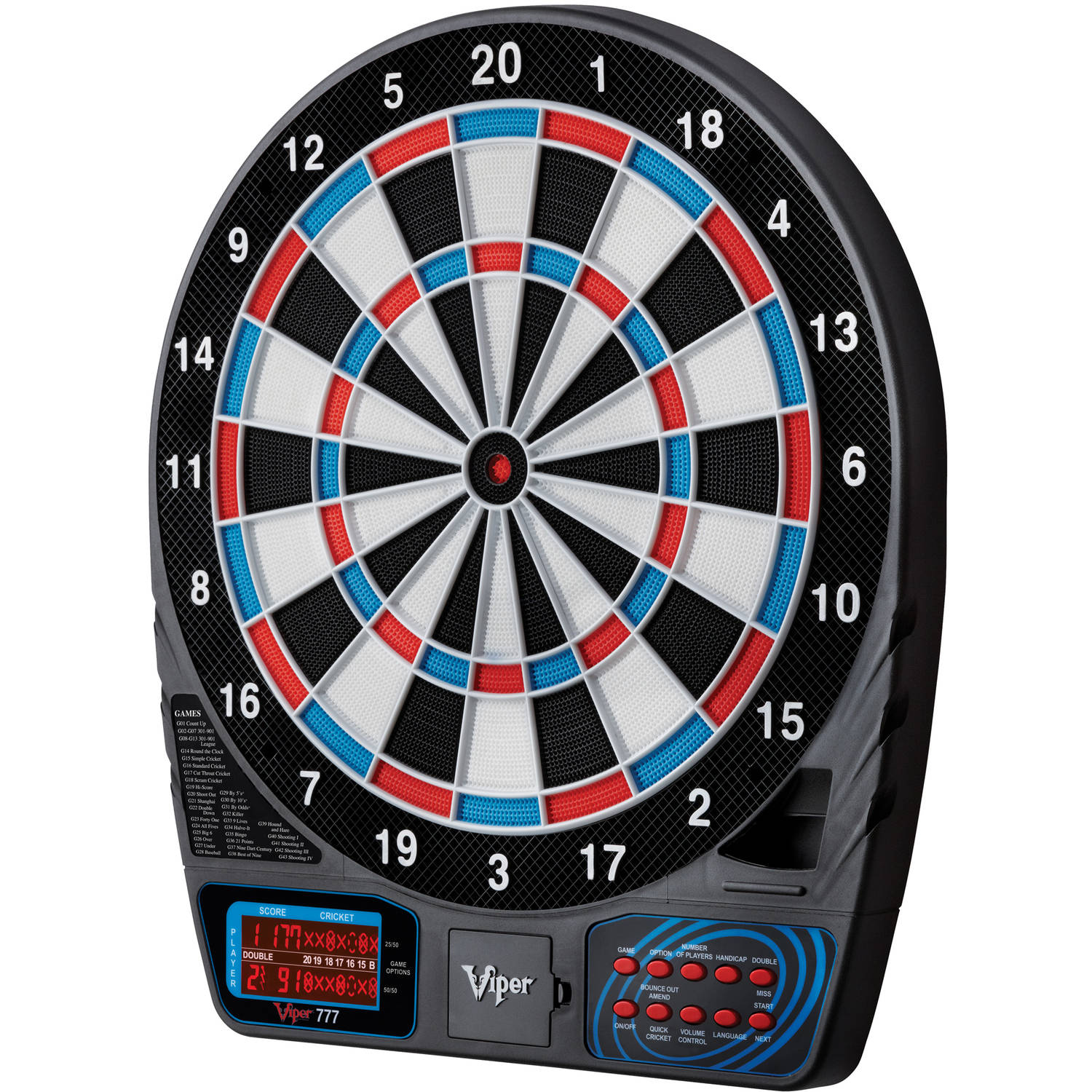 Viper 777 Electronic Dartboard by Great Lakes Darts Mfg, Inc.