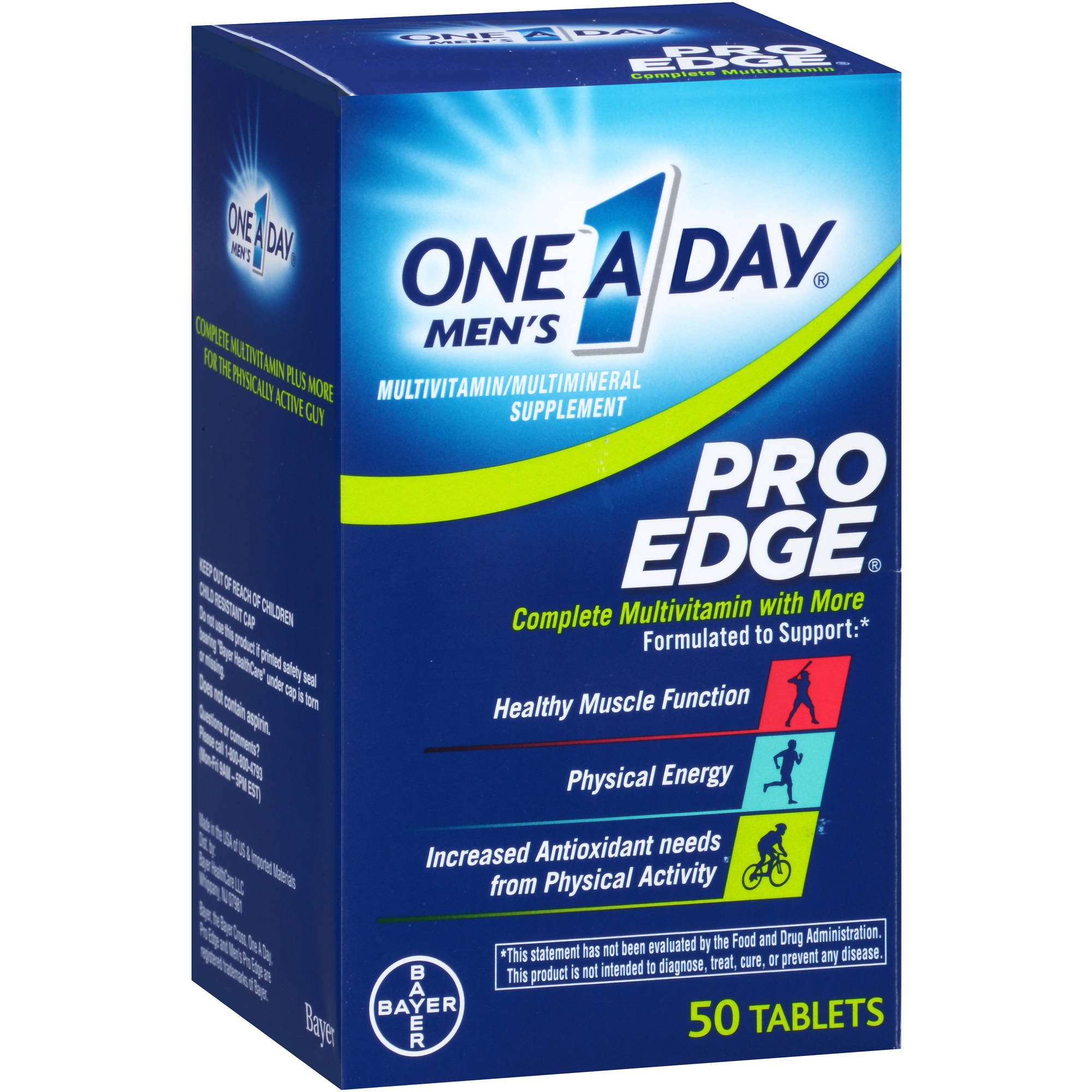 One A Day Men's Pro Edge Multivitamin/Multimineral Supplement, 50 count