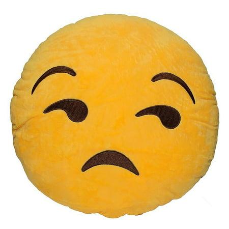 Emoticon Yellow Round Plush Pillow - Flouting Emoji](Poop Emoticon Pillow)