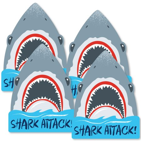 Shark Zone - Shark Week Party - Shark Decorations DIY Jawsome Shark Party or Birthday Party Essentials - Set of 20](Happy Birthday Shark)