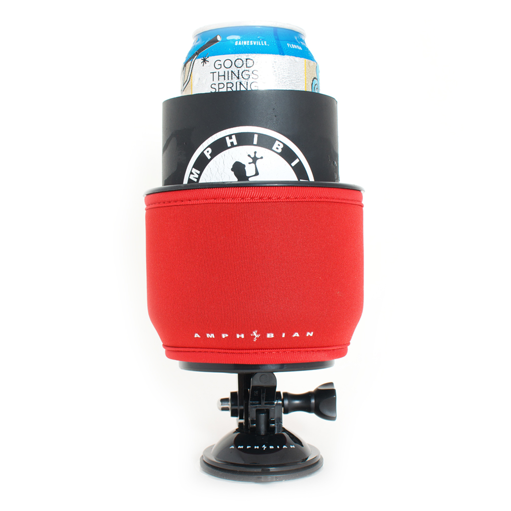 SUP and Kayak Drink Holder with Can Cooler RED