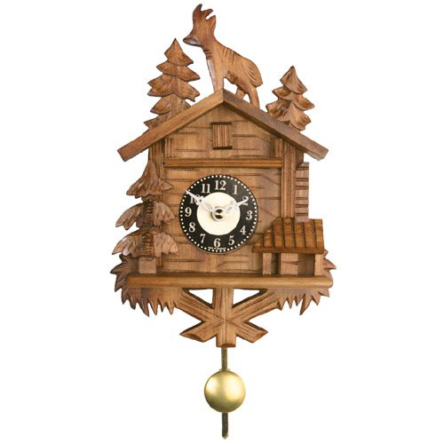 8 Inch Roof Top Billy Goat Black Forest Cuckoo Clock by River City Clocks