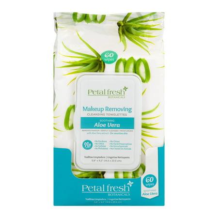 Petal Fresh Makeup Removing Cleansing Towelettes Aloe Vera, 60.0