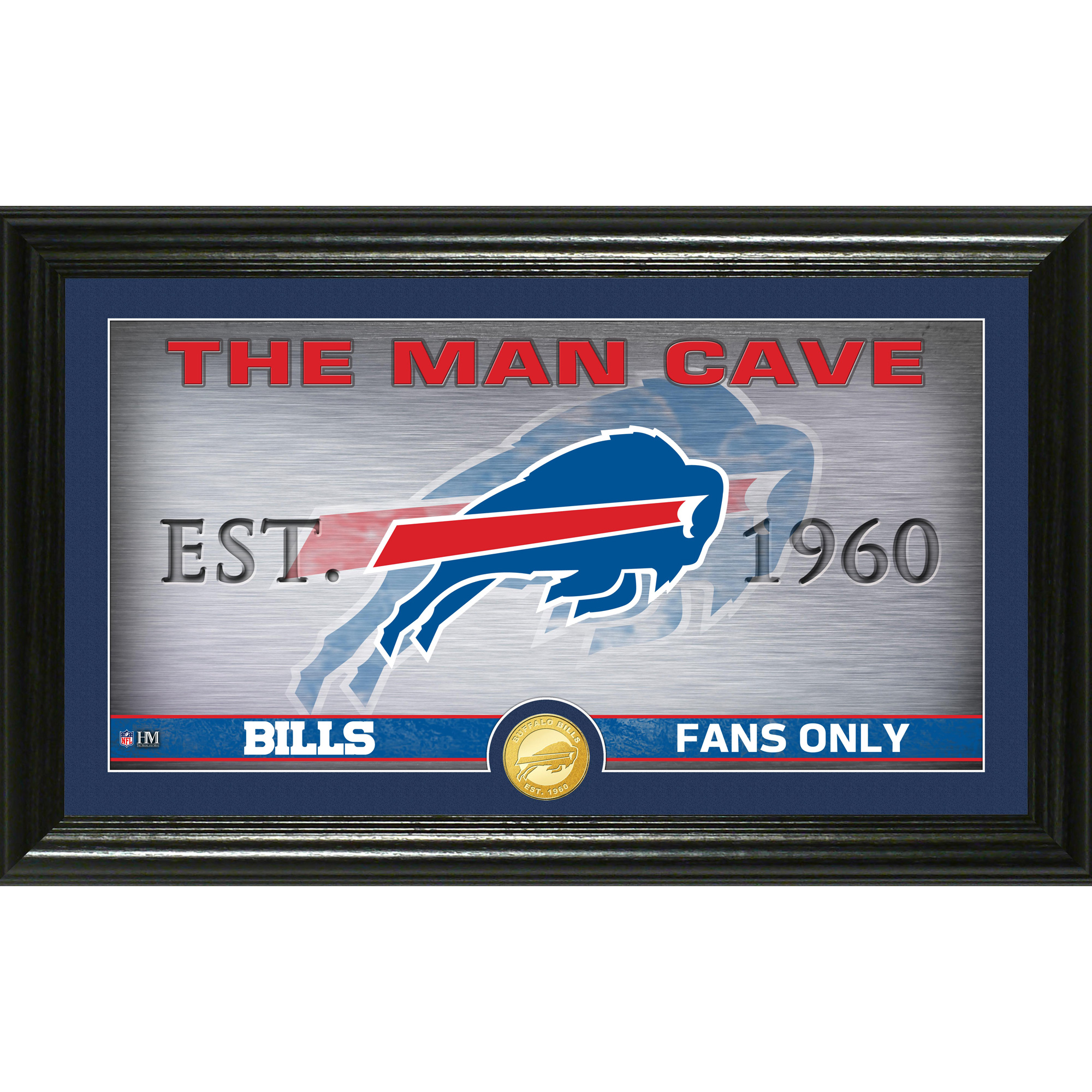 "Buffalo Bills Highland Mint 12"" x 20"" Man Cave Photo Mint - No Size"