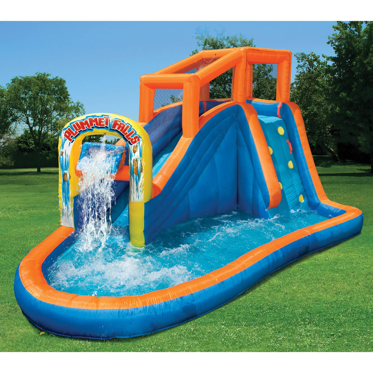 banzai plummet falls adventure water slide walmartcom - House Pools With Slides