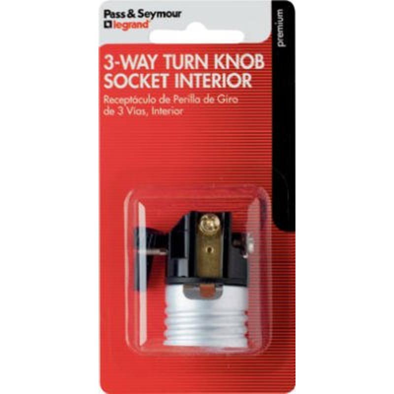 Pass & Seymour 7090MBPCC5 3-Way Incandescent Metal Shell Lamp Holder Interior Socket