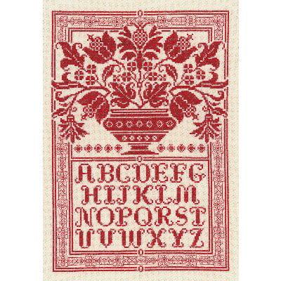 Folk Art Sampler Counted Cross Stitch Kit, 10