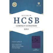 HCSB Compact Ultrathin Bible, Purple LeatherTouch