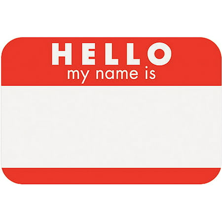 Name Tag Stickers Walmart