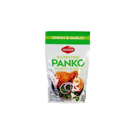 Haddar Panko Crumbs - Onion - Gluten Free - Case of 12 - 7 oz (Panko Crumbs)