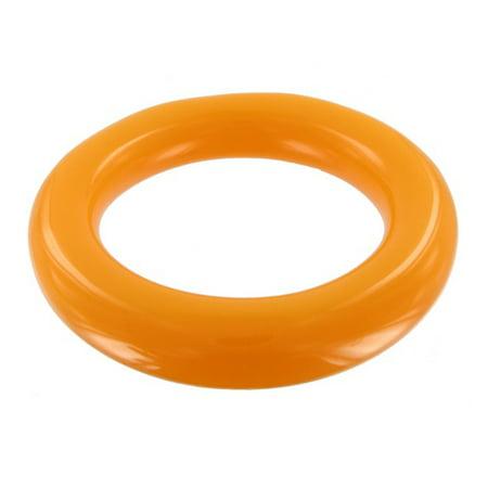 Plastic Charm Bracelets (Orange Lucite Plastic Smooth Tube Heavy Bangle)