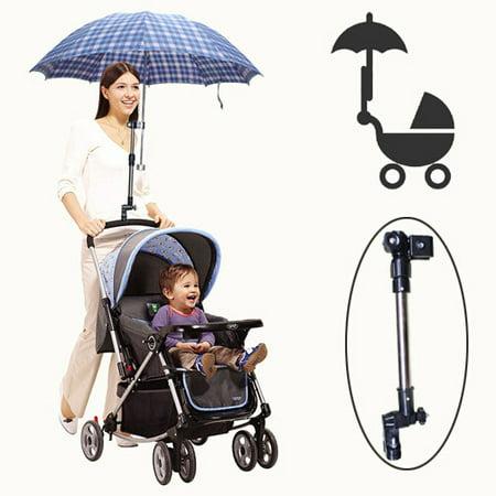 Golf Umbrella Holder Baby Trolley Umbrella Stand For Wheelchair Bike Buggy Cart Baby Pram ()