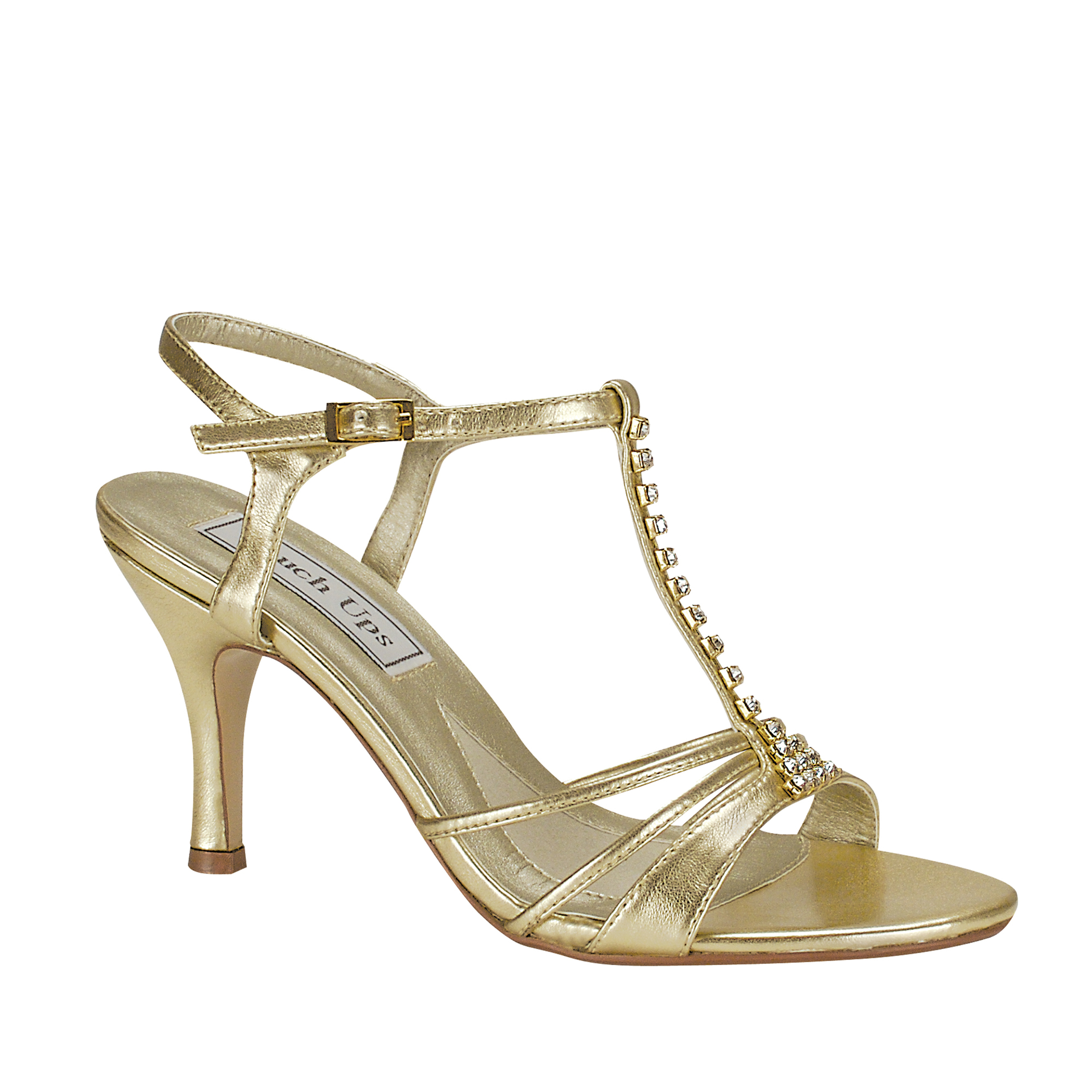 Touch Ups Womens Anneka Sandal,Gold,6.5 W