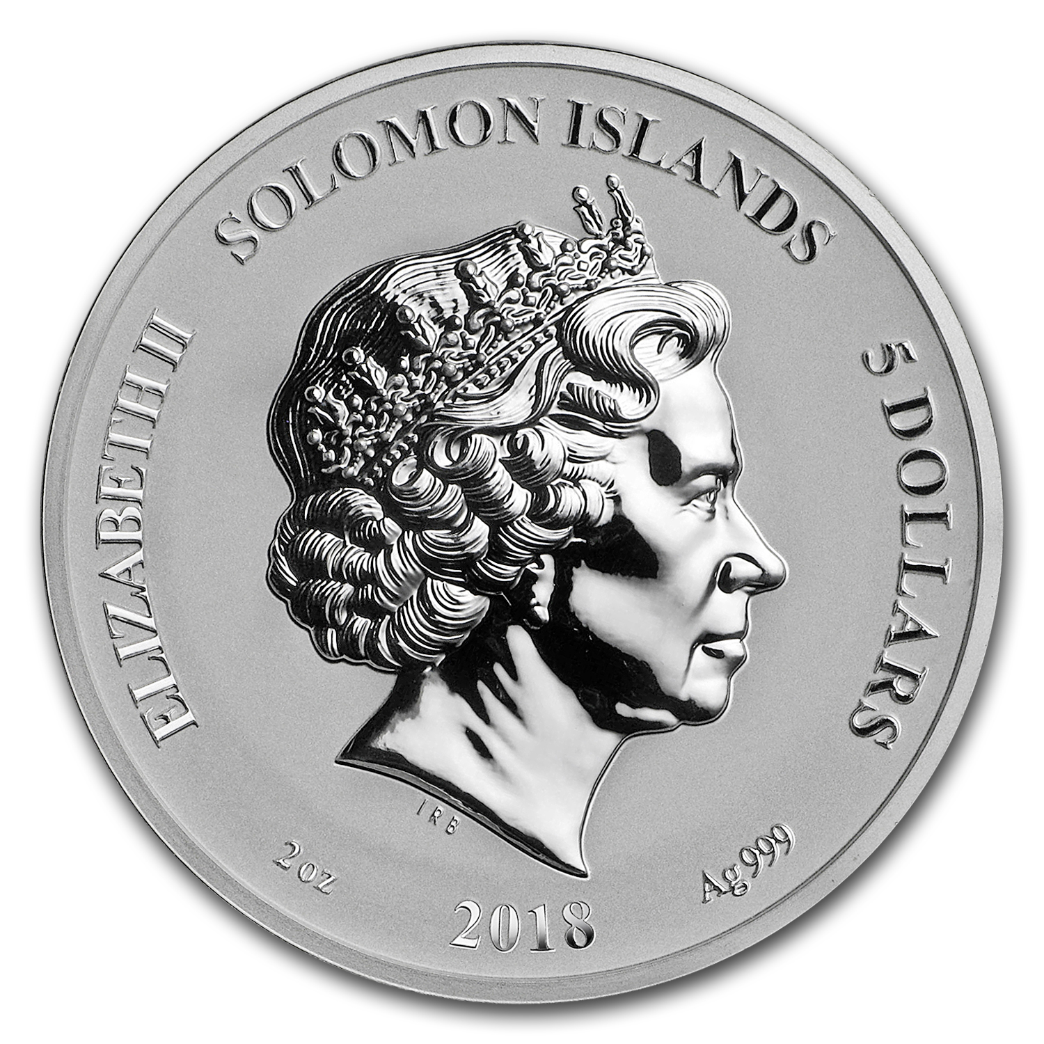 2018 Solomon Islands Legends /& Myths Series Elf 2 oz Silver Reverse Proof Coin