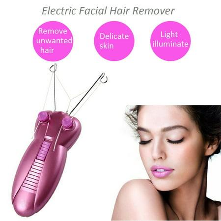 Electric Electronic Eyebrow Threading Epilator Face Facial Threader Hair