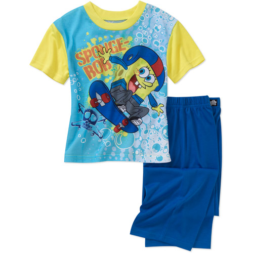 Nickelodeon Boys' Spongebob 2-Piece Pajama Set