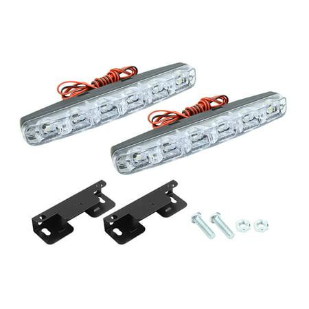 6 LED White Car DRL Daytime Running Light Fog Lamp Daylight DC 3-3.6V 2pcs - image 6 of 6