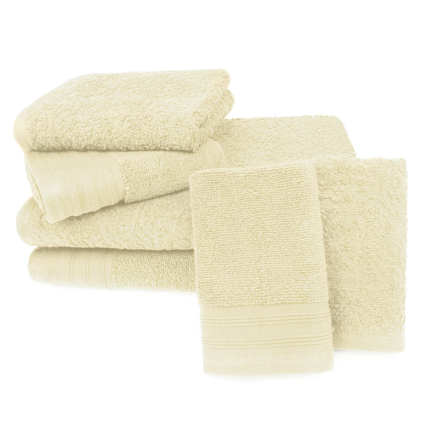 Zero Twist Jacquard 6-Piece Bath Towel Set Ivory by Overstock