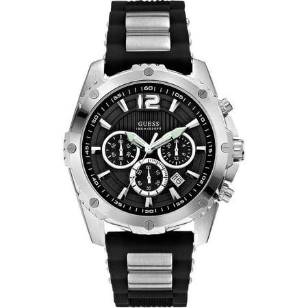 94869cbd0 GUESS - Duo-Tone Sport Chronograph Mens Watch U0167G1 - Walmart.com