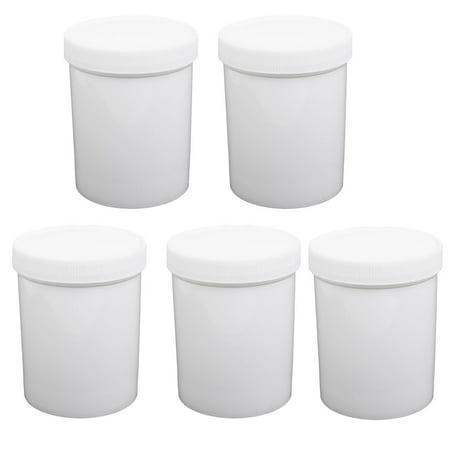- Unique Bargains 500ml HDPE Plastic Wide Mouth Round Laboratory Experiment Bottle Bucket 5pcs