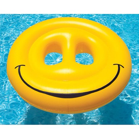 Swimline Smiley Face Island Lounger Pool Float for Swimming Pools