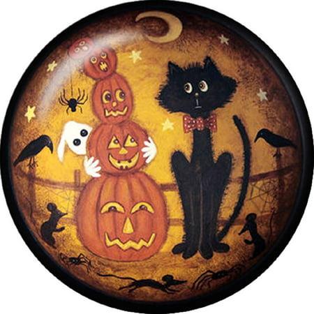 Snap button Halloween cat pumpkin ghost Interchangable Jewelry 18mm Cobochan - Snap Judgment Halloween