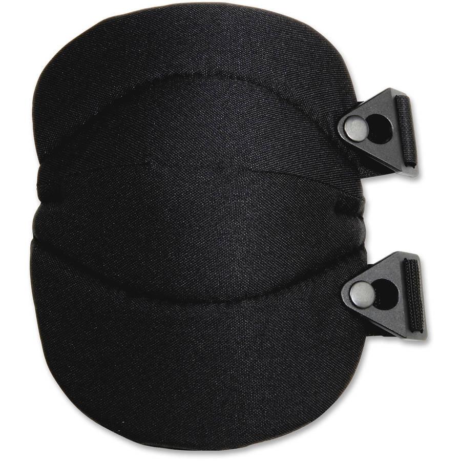 ProFlex 230 Wide Soft Cap Knee Pad, Buckle, Black