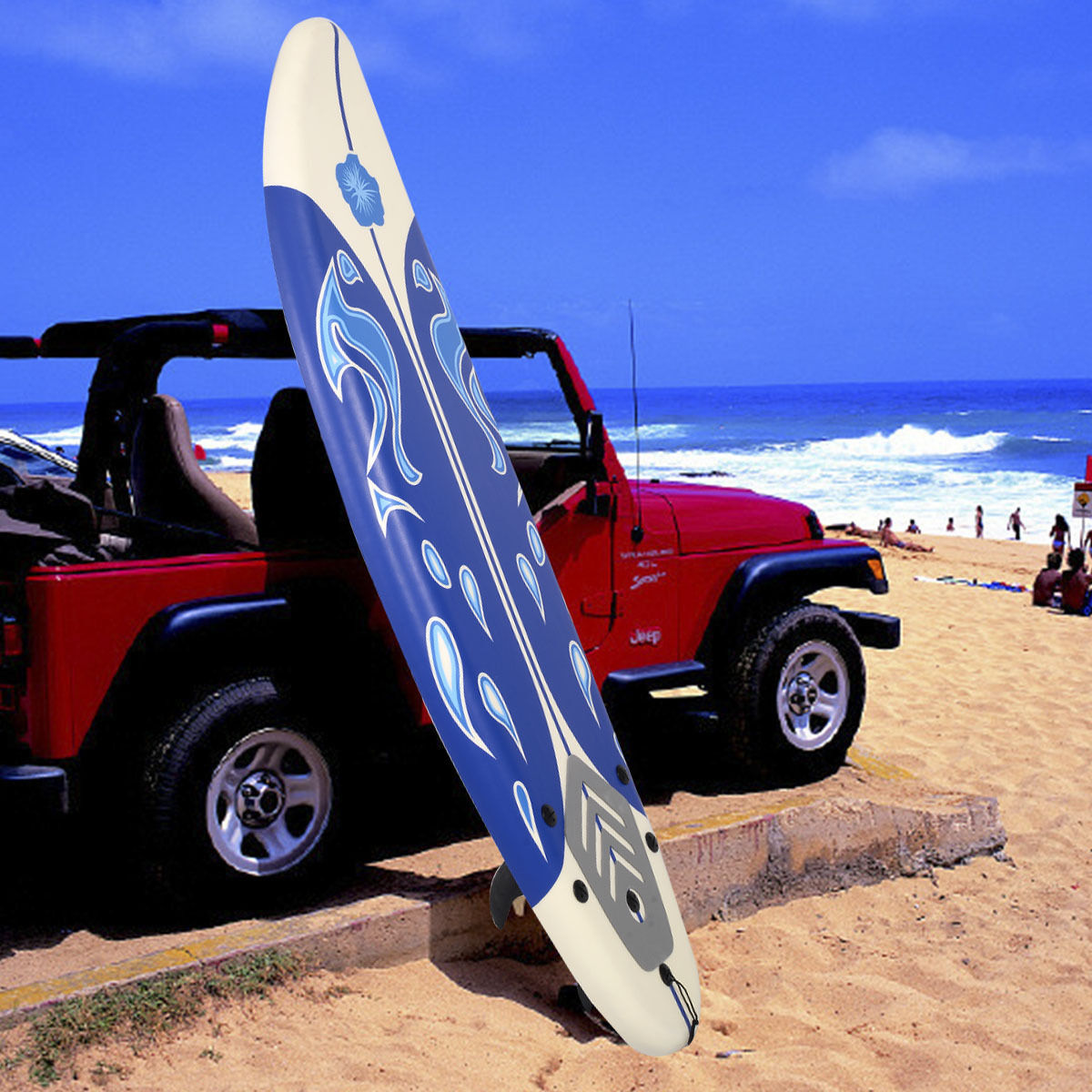 Click here to buy Costway 6' Surfboard Surf Foamie Boards Surfing Beach Ocean Body Boarding White by Costway.