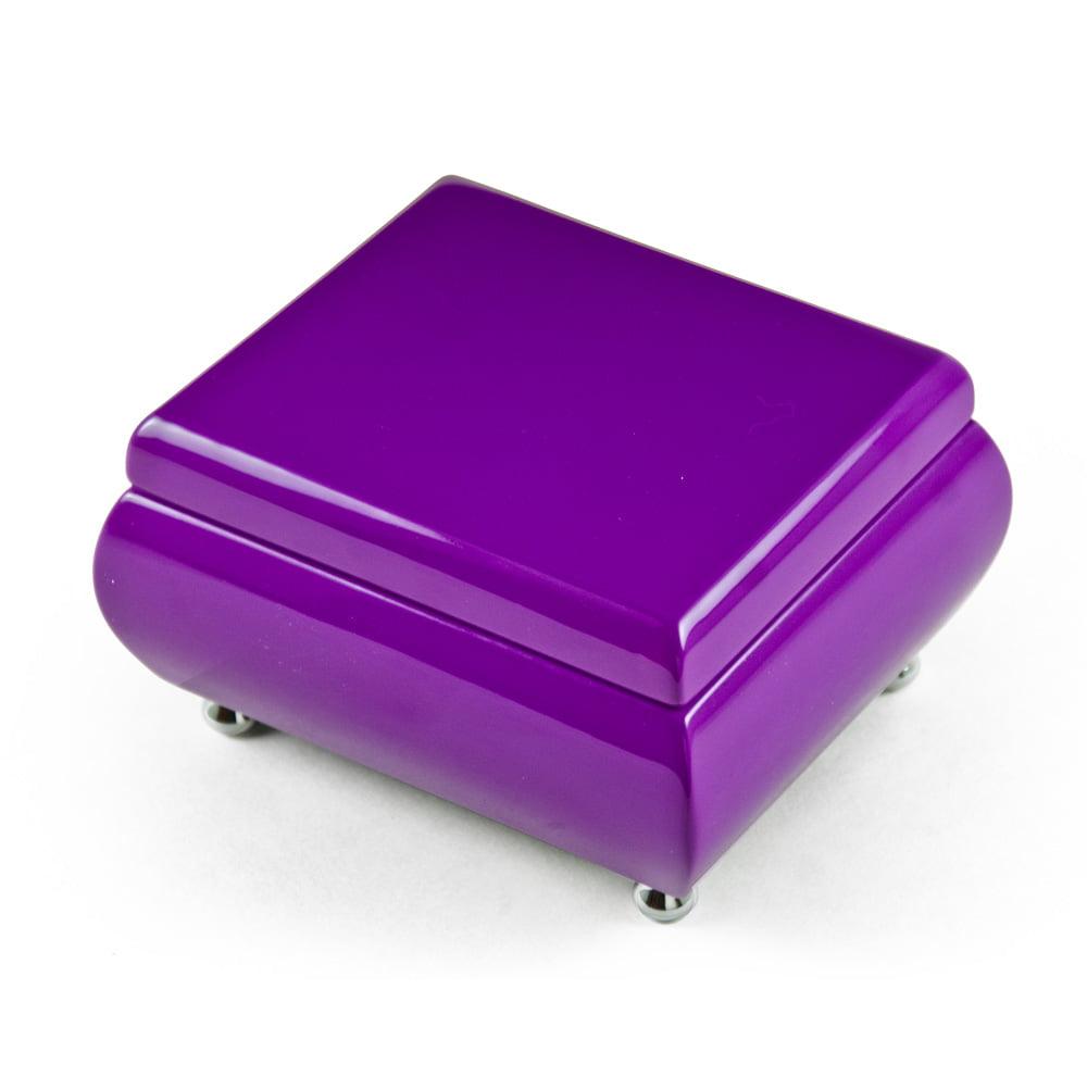 Vibrant Hi-gloss Lavender (purple) Musical Keepsake Jewelry Box - Getting to Know You