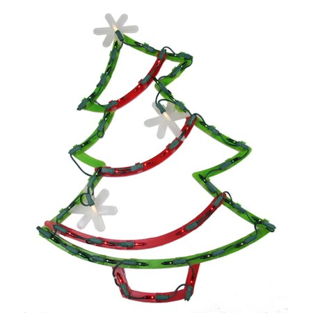 18 lighted christmas tree with star ornaments window silhouette decoration for 18 lighted christmas tree with stars window silhouette decoration