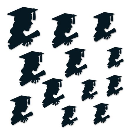 The Beistle Company 12 Piece Girl Graduate Silhouette Standup Set](Beistle Company Vintage Halloween Decorations)