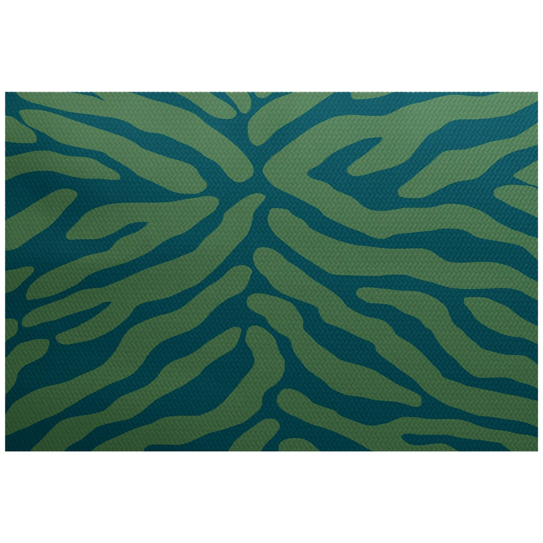 Simply Daisy 2' x 3' Animal Stripe Geometric Print Indoor/Outdoor Rug