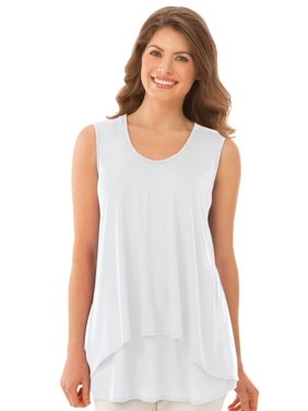 a6c683d24439a Product Image Women s Double Tier Layered Sleeveless Tank Top