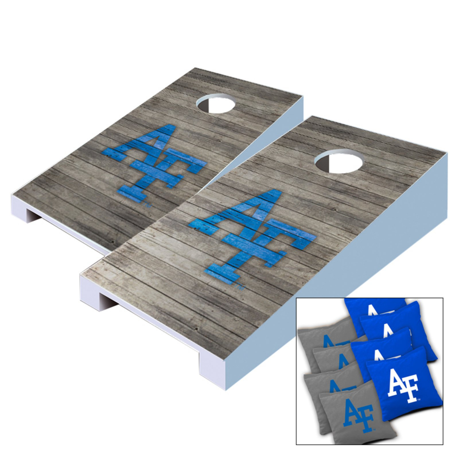 NCAA Air Force Falcons Distressed Tabletop Cornhole Set by AJJ Cornhole