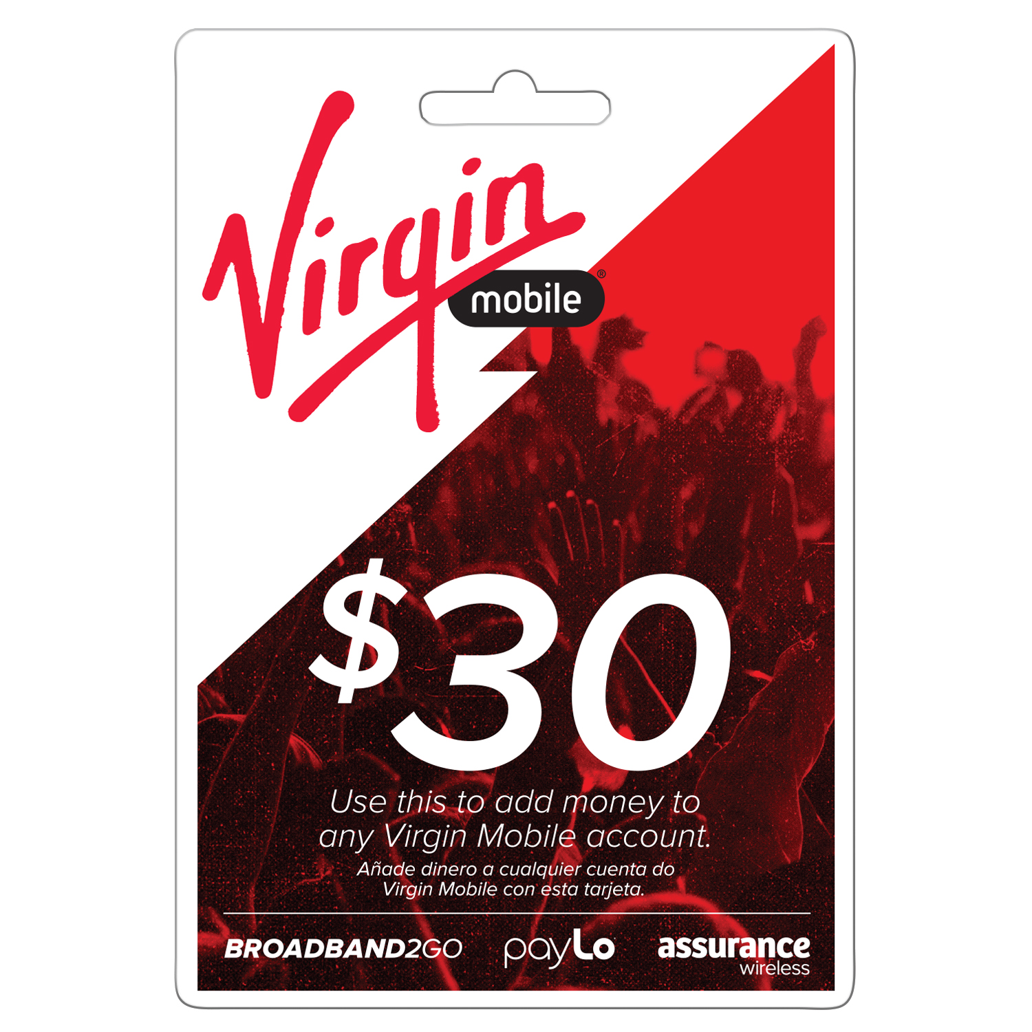 Virgin Mobile Top Up $30 (Email Delivery)