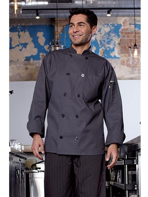 0488-6402 Orleans Chef Coat in Slate - Small