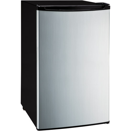 Magic Chef 4.4-Cubic Foot Refrigerator, Stainless Look Door